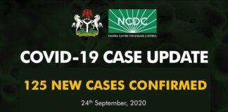 COVID-19: NCDC Confirms 125 New Coronavirus Cases In Nigeria